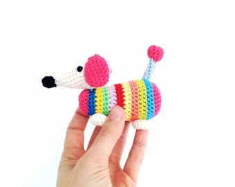 Crochet Wiener Dog Dachshund Pattern - Instant Download