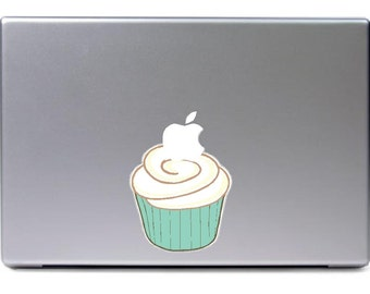 Macbook - Cupcake apple  - funny car truck sticker cute puppy dog bumper sticker decal