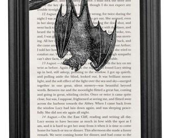 Dracula Book Page Art Print
