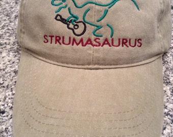 Strumasaurus Embroidered Hat Ukulele Uke Cap