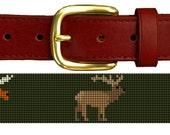 Big Game Profile Needlepoint Belt Canvas