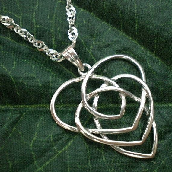 Mother Heart Knot Necklace Love Mother Daughter Necklace Etsy