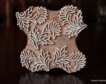 Pottery Stamps, Indian Wood Stamp, Textile Stamp, Wood Blocks, Tjaps, Printing Stamp- Modern Floral Pattern