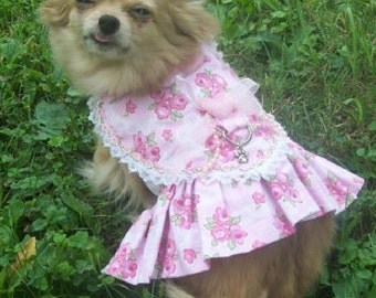 Dog Dress Pattern------- HEART BODICE Dress-----Lovely and Sweet----Shabby Chic----is also a Harness