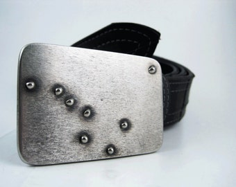 Big Dipper and North Star Belt Buckle - Welded Stainless Steel - Handmade