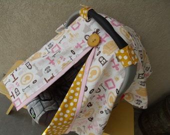 Car seat Canopy Chandelier Mustard Dot Girl