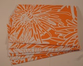 6 A-6 Orange and White Elum Mums Envelopes with Notecards