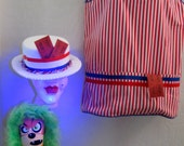 Awesome Vintage Halloween Dark Circus Creepy Carnie Costume with Kozik Knock Down Doll Stabby the Monkey