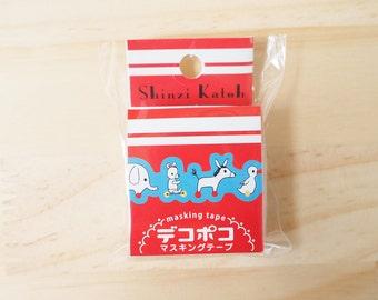 Deco Poco masking tape, Shinzi Katoh, Animal, Die cut