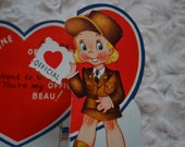 Vintage Valentines 1940s WW 2 Ameri-card