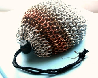 Large Chainmaille Dice Bag Drawstring Pouch