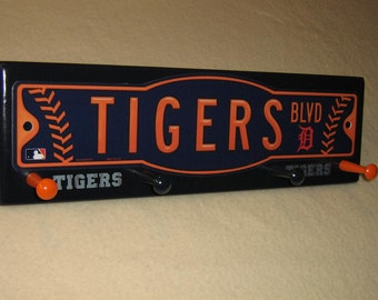 "Detroit Tigers coat rack ""hangup""  (convo me for your favorite team)"