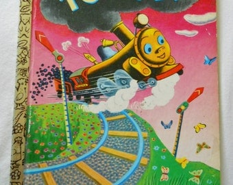 Vintage Little Golden Book - Tootle - Choo Choo Train Storybook - 1969 Edition