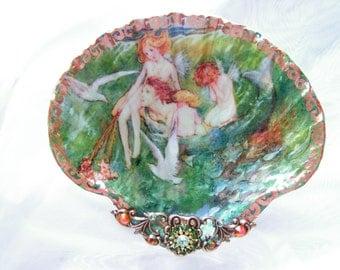 Little Mermaids Meduim Shell Jewelry Dish