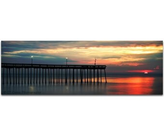 Sunrise Beach Photography, Seascape Photography, Panoramic Print, Limited Edition, 5x15