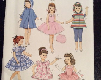Butterick  5864 Retro 1956 Pattern for 18 Inch Dolls New, Uncut, Factory Fold