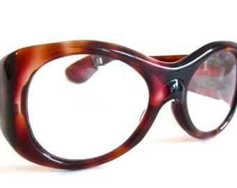 Vintage women's eyeglass frames, French tortoise shell eye ware,1960's