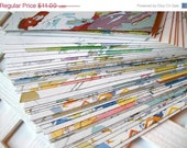 Holiday Sale Upcycled Atlas Envelopes with Sticker Seals Vintage Atlas Envelopes