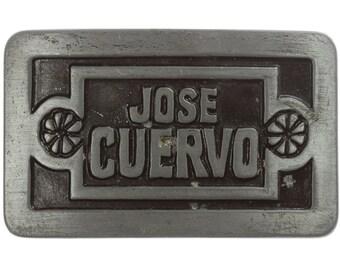 Jose Cuervo Belt Buckle Grey | Tequila Drinking Vintage Belt Buckle for Leather Belt | 1977 Liquor USA Mexican BB13