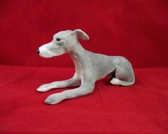 Whippet hand sculpted