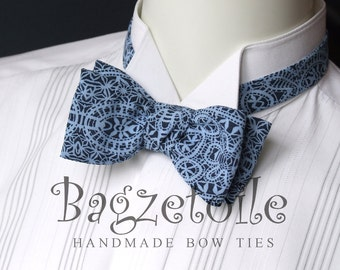self tie, Men's bow tie / beautiful cotton print fabric / cotton freestyle - adjustable - just bowties for men from Bagzetoile