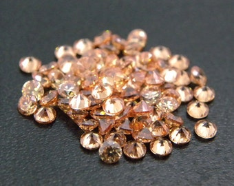 10mm Round CZ Champagne Cubic Zirconia Loose Stones Lot