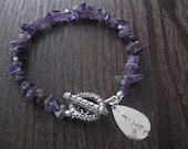 personalized bracelet,amethyst bracelet,sister bracelet,sister charm bracelet,purple bracelet,amethyst jewelry,  personalized charm bracelet