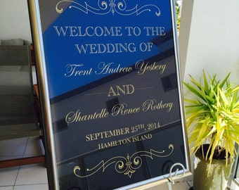 Wedding Reception Welcome Sign or Poster
