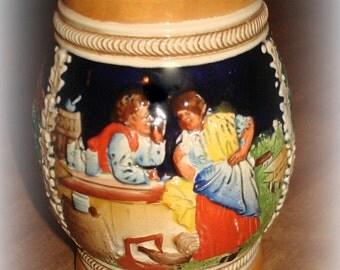 Vintage German Beer Stein.  Beer Mug. Smaller in Size.  Made in Germany