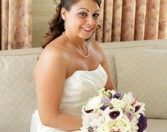 Elizabeth Wedding Necklace - Swarovski Crystal Golden Shadow Champagne, Gold-filled, Bridal Necklace, Bridal Party Gifts