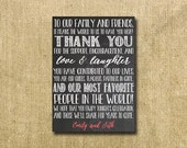 printable personalized thank you note for wedding guests - chalkboard!