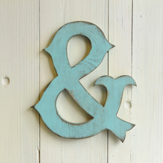 Wood circus ampersand home decor nursery decor by for Ampersand decor
