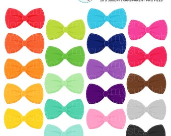 Stitched Bow Ties Clipart Set - clip art set of bow ties, rainbow bow ties clipart - personal use, small commercial use, instant download