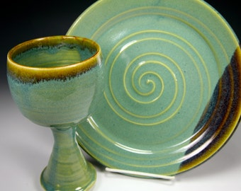 Green Chalice and Paten