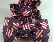 Dog Flower or Bow Tie- 4th of July Stars