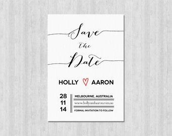 Printable Save the Date Card - Classic