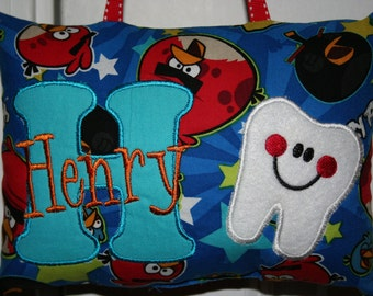 Angry Birds Tooth Fairy Pillow for Boys Personalized