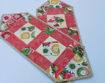 Asian Parasol Table Runners-Set of 2-Reversible-Free Shipping to US and Canada