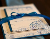 RESERVED - Deposit for Cornflower Blue and White Wedding Invitation Suite