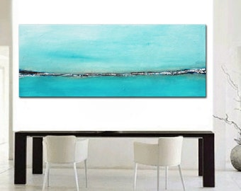 Blue Abstract painting, Landscape Painting, Original Abstract, Abstract Ocean, Large Aqua Painting, Water painting, Blue Green Abstract