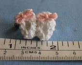 Ity Bity Baby Booties [wif ity bity bows] - In Memory - Tiny Baby Feet - Honor your miscarried or aborted child - memorial booties