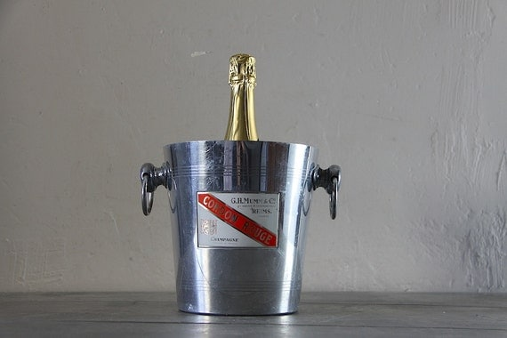Vintage French Champagne Bucket Parisien Style