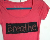 Breathe tshirt, yoga top, organic yoga