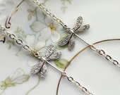 Silver Dragonfly Eyeglass Necklace-Silver Eyeglass Chain, Eyeglass Chain, Eyeglass Necklace, Glasses Chain, lanyard, eyeglasses chain