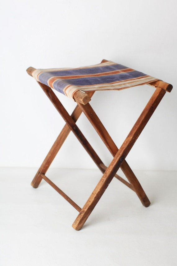 Wooden Folding Camp Stool
