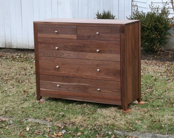 hardwood 10 drawer dresser inset drawers flat panels 60 wide x 20 deep x 40 tall natural. Black Bedroom Furniture Sets. Home Design Ideas