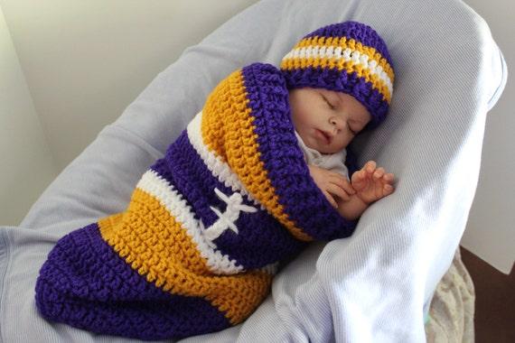 Minnesota Vikings Baby Cocoon Swaddle Sack Newborn Clothing