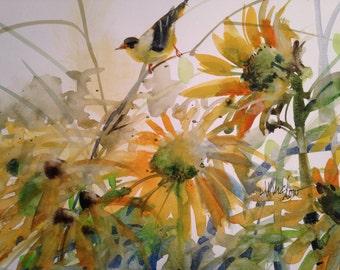 6 summer flowers , blank cards
