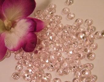 Blush Diamond Confetti // 1000 MICRO small Faux Diamonds // Very Light Pink Wedding Table Scatter Confetti // Table Centerpiece Accent