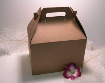 Extra Large Wedding Gift Box : Box / 50 Extra Large Kraft Gable Favor Boxes 9